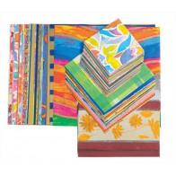 Duży zestaw kwadratów wzorzystych do origami - 8-20 cm - 700 sztuk