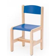 Krzesełko bukowe NOVUM wys 35 cm niebieskie