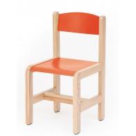 Krzesełko bukowe NOVUM wys 35 cm czerwone