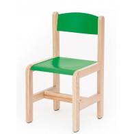 Krzesełko bukowe NOVUM wys 31 cm zielone