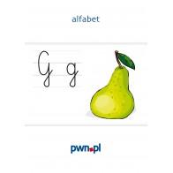Alfabet – zestaw kart z ilustracjami
