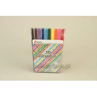 Flamastry zmywalne cienkie - 10 kolorów