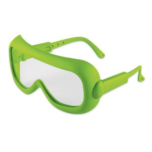 Okulary ochronne dla dzieci - zielone regulowane