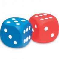 Dwie kostki z pianki - kropki 1-6