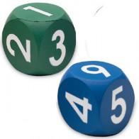 Dwie kostki z pianki - cyfry 1-9