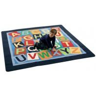 Dywan 200 x 200 cm - alfabet