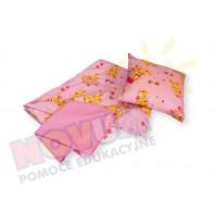 Poszewka na poduszkę-różowa