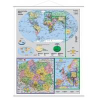 Mapa - Polska w Europie i świecie