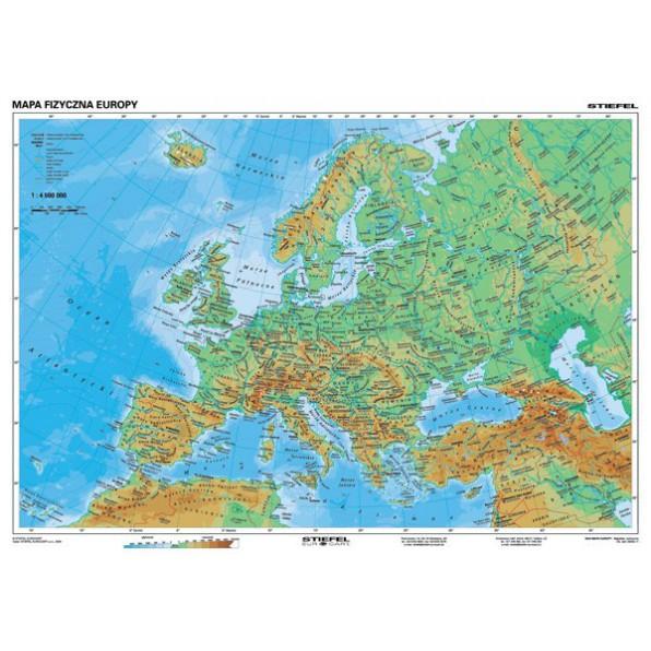 Mapa - Europa fizyczna i polityczna